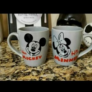 Mickey and Minnie Mouse his and hers mugs